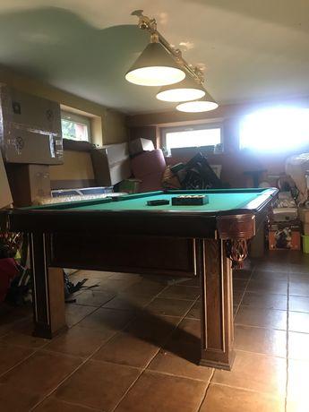 Piękny stół bilardowy, drewno, kamień PL producent stan bdb+