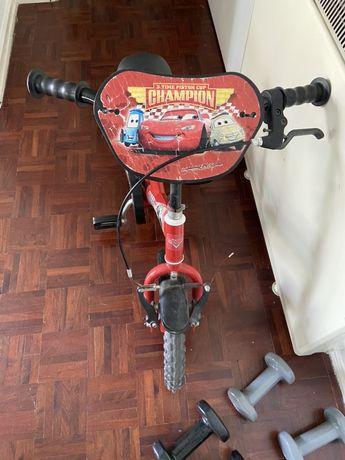 Bicicleta crianca faisca macqueen
