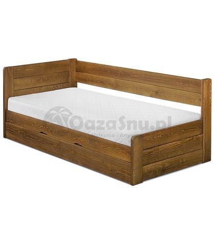 drewniane łóżko VIGO 90x200 otwierane z boku ze skrzynią