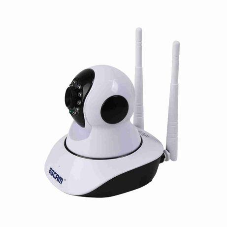 Câmara HD de vigilância sem fios WiFi, Rotativa com visão nocturna