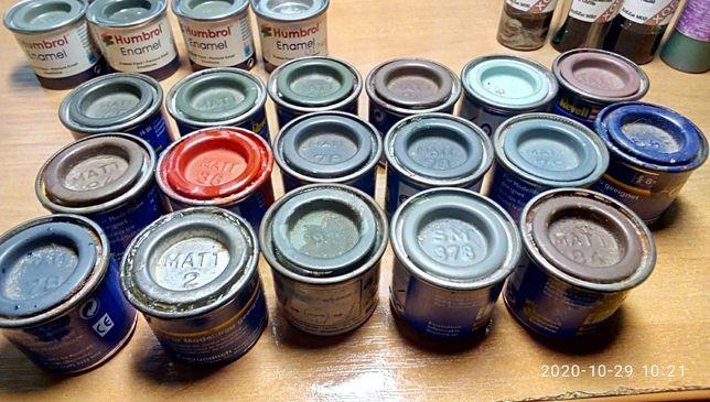 фарби, шпаклівка, розчинники для моделювання