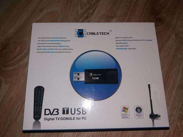 Adapter DVB-T telewizja do komputera Dongle TV USB Cabletech NOWY