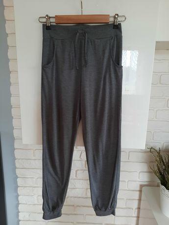 Szare spodnie haremki baggy pumpy 146cm H&M