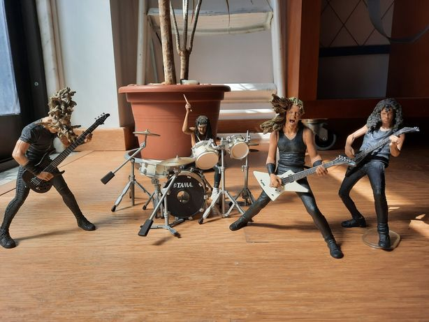 Metallica figura boneco metal hetfield lars kirk newsted ulrich james