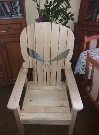 Krzesło, fotel, z drewna (Punisher)!