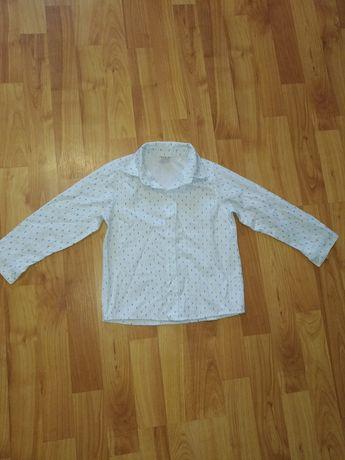 Нарядная белая рубашка хлопок на мальчика 2-4года Next