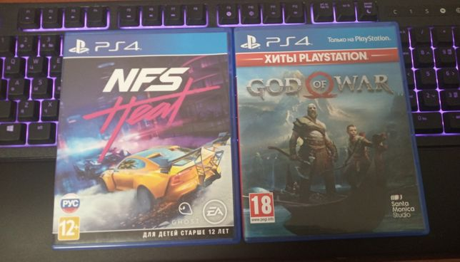 Игры на PlayStation 4/ps4, need for speed heat, god of war