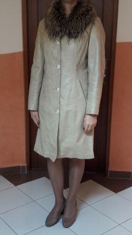 Płaszcz skórzany damski Marbet