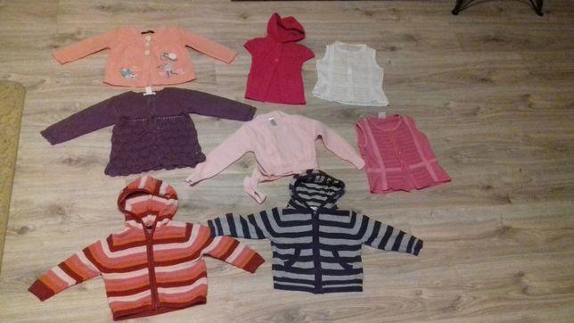 Sweterki,sweterek,bezrękawnik,bluzeczk dla dziewczynki 80,86,92,98-104