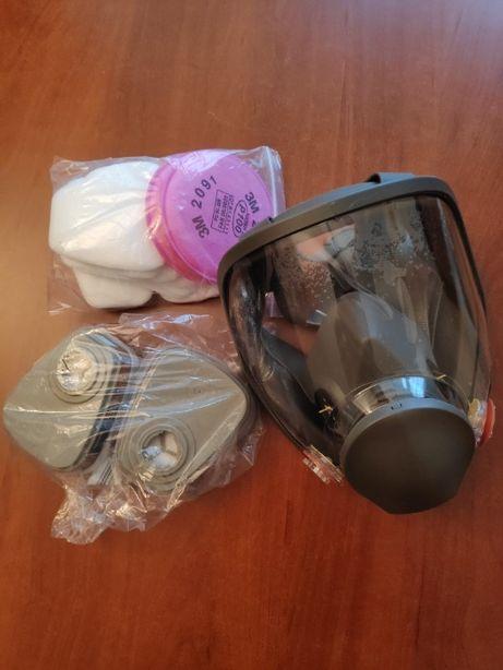 Maska ochronna pełnotwarzowa + zestaw filtrów