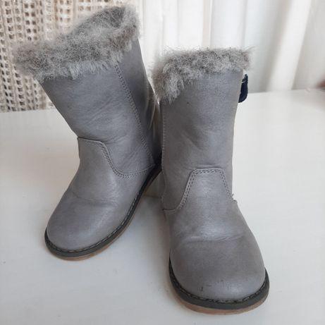 Сапожки next кожаные 17см демисезонные козаки на девочку ботинки