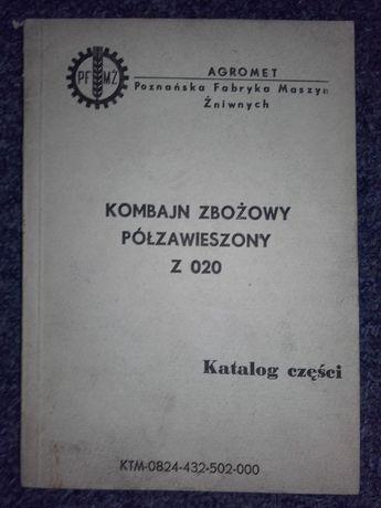 Z020 kombajn zbożowy półzawieszony Z 020 katalog części