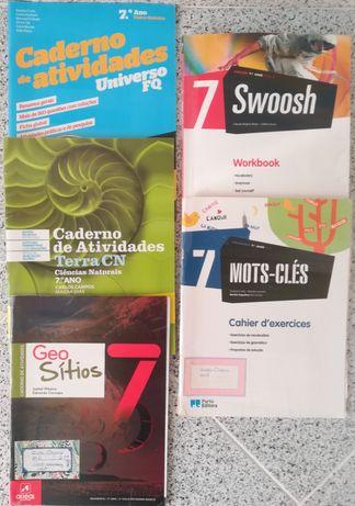 Cadernos de execícios 7º e 8º ano