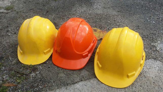 kask na budowę robotę ochronny budowlany hełm BHP roboczy