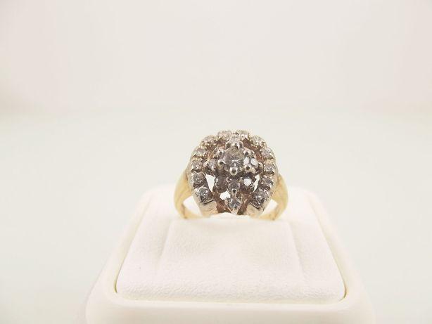 pierścionek ze złota 585 brylanty 0,58 - 4,53 g