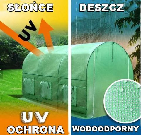 UV5 MOCNY Tunel Foliowy 2x3,5 Foliak Szklarnia namiot na pomidory 2021