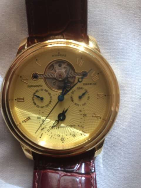 "Relógio Automático Calvaneo 1583 ""evidênce Gold"""