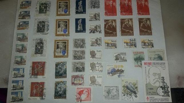 Selos individuais e em conjunto de Angola e Portugal