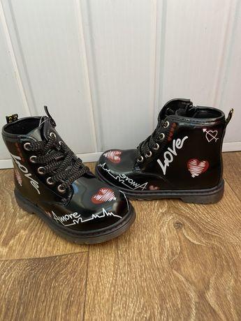 Демисезонные ботинки на девочку р.29-32