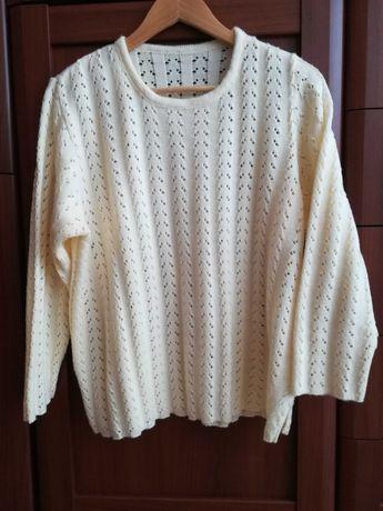 Sweter bluzka damska ecru