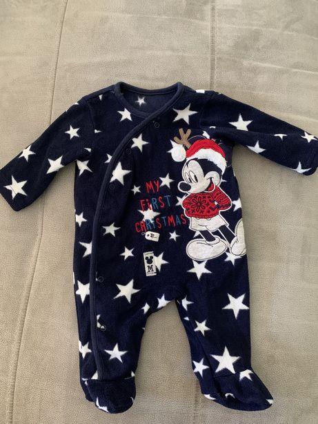 Babygrow O meu primeiro Natal 3 meses Mickey