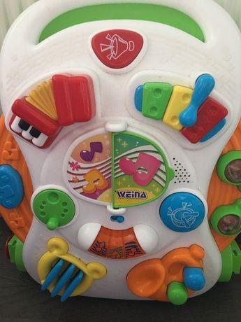 Музыкальный игровой столик 2в 1 ходунки