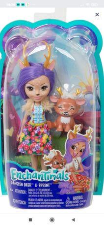 Кукла Enchantimals базовая с питомцем Данэсса Оленни и Спринт