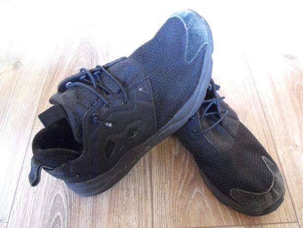 Buty REEBOK 39/40 25.5cm Skóra* czarne skórzane sportowe