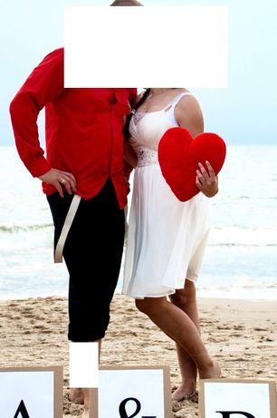 suknia sukienka ślubna okazyjna biała