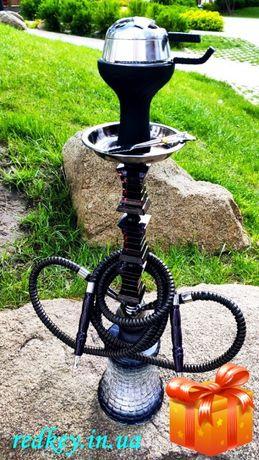 Кальян Mustafa Hookah black высотой 64 см + бонус уголь мундштуки