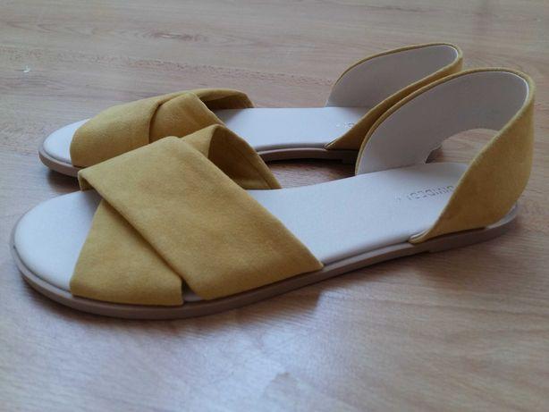 Sandaly HM żółte