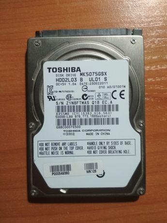 Жесткий диск toshiba HDD 500Gb для ноута