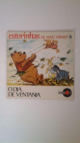 livro raro antigo estorinhas de walt disney vintage para colecionador
