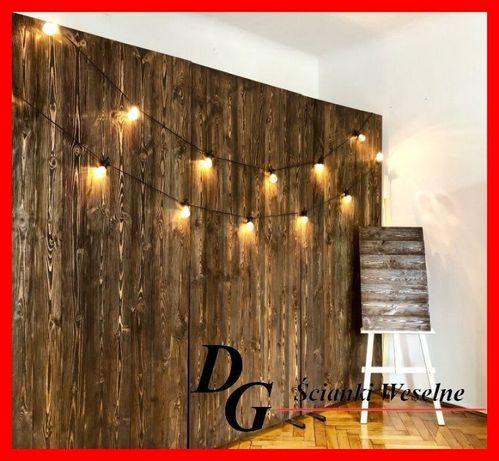 Ścianka weselna drewniana + tablica powitalna gratis