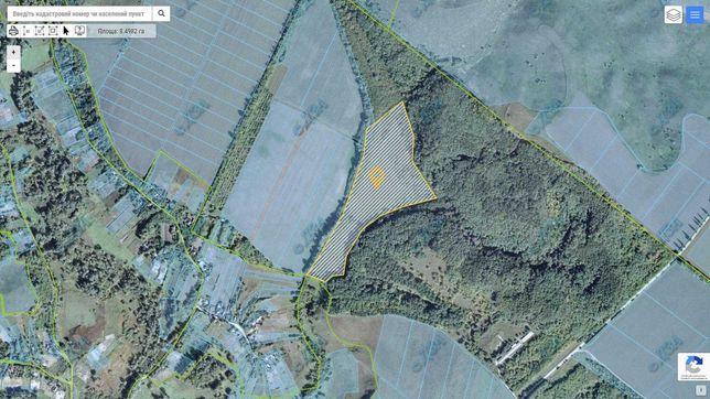 Продам участок 8.5 га эко туризм, эко ферма, вокруг масив леса