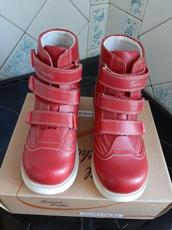 Новые кожаные ботинки ортопедические