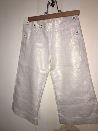 Льняные брюки (кюлоты) Dior, 4-5 лет