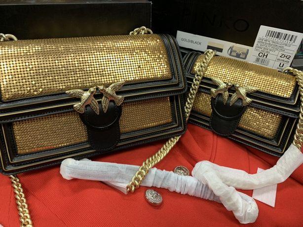 Продам сумку Pinko/ 21 см / шкіряна сумка / оригінал/ сумка на цепочці
