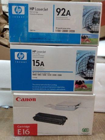 Оригинальные картриджи НР 1100, 1200, 5L,Canon E16, EP 22
