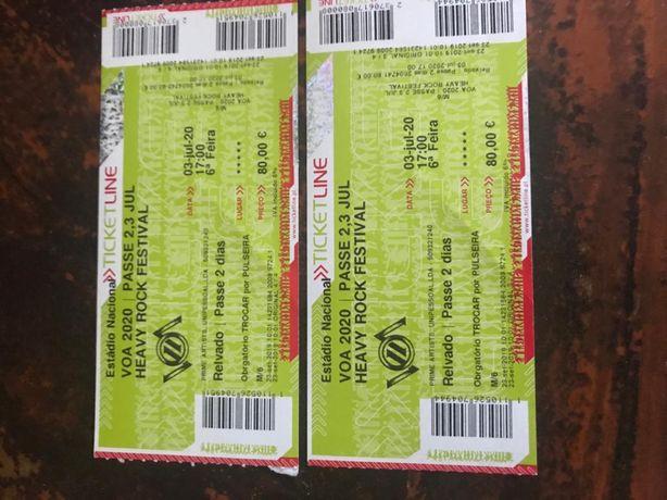 Bilhetes para o VOA 2022