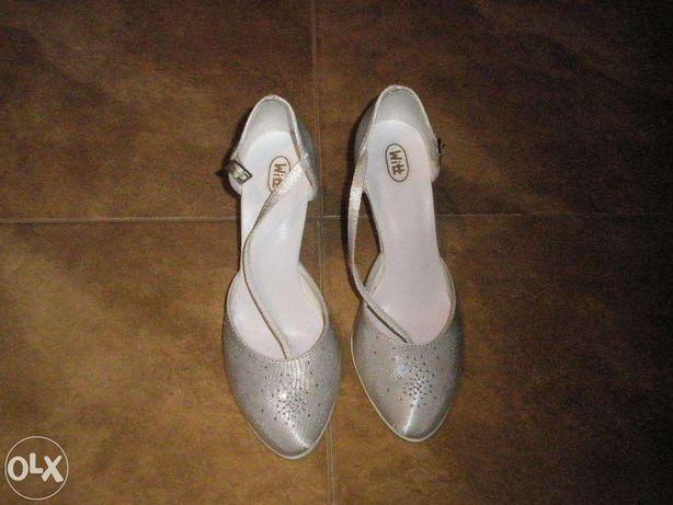 Buty ślubne,śnieznobiałe,rozmiar 37