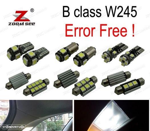 KIT COMPLETO DE 12 LÂMPADAS LED INTERIOR PARA MERCEDES BENZ CLASE W169 A150 A160 A170 A180 A200 (20