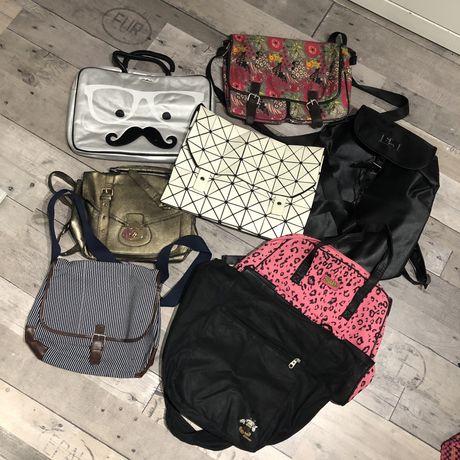 Zestaw toreb damskich/plecaka/torba laptop/ na pasku/do ręki/na ramię