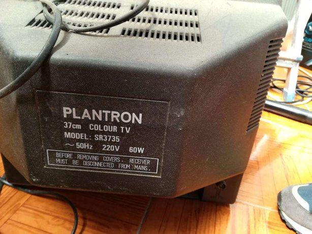 televisão antiga plantron com comando