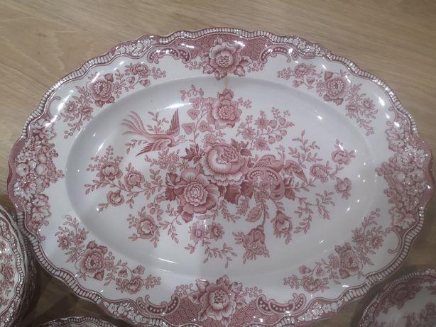 Porcelana crown ducal bristol pink