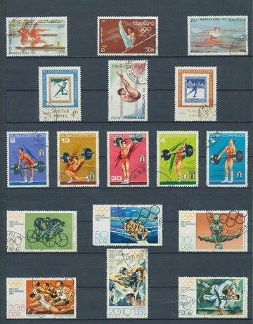 Почтовые марки/Поштові марки/Альбом почтовых марок(СПОРТ. Олимпиада)