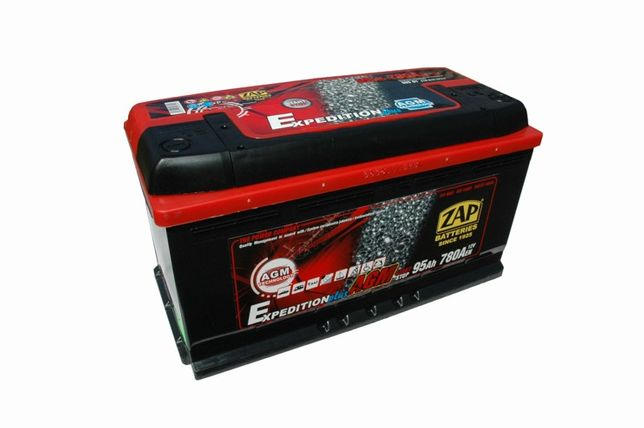 Akumulator ZAP Piastów AGM 95Ah 780A 12V Akumulatory START STOP 90Ah