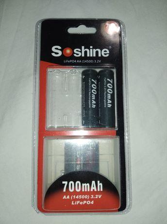 Аккумулятор soshine lifepo4 АА 14500 3.2v 700mAh