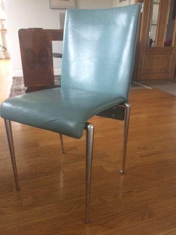 krzesło skóra naturalna