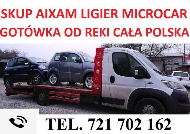 Skup Aixam Ligier Microcar Cała Polska Gotowka od teki